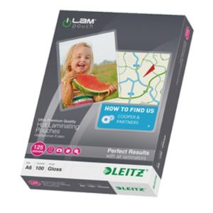 Lamineringslomme glans 125my A6 (100)