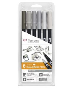 Marker Tombow ABT Dual Brush 6P-6 Grey colors (6)