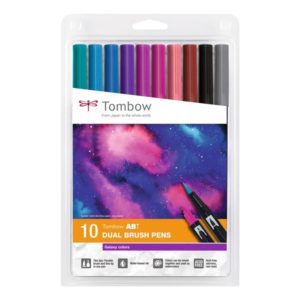 Marker Tombow ABT Dual Brush Galaxy Colours (10)