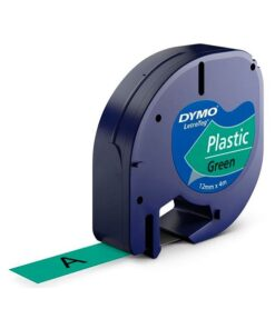 Tape LetraTag plastic 12mmx4m green